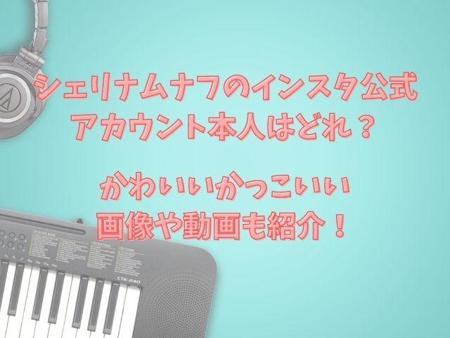 シェリナムナフのインスタ公式アカウント本人はどれ?かわいいかっこいい画像や動画も紹介!
